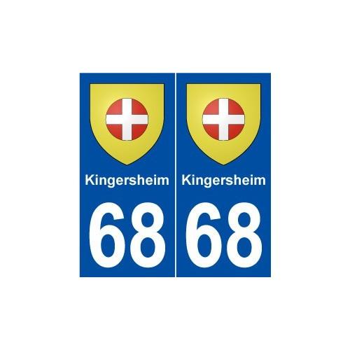 68 kingersheim blason autocollant plaque immatriculation. Black Bedroom Furniture Sets. Home Design Ideas