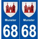 68 Munster coat of arms sticker plate stickers city