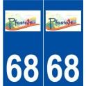 The 68-Pfastatt logo sticker plate stickers city
