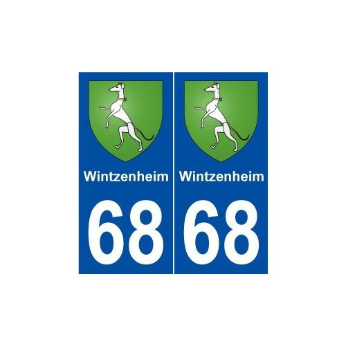 68 Wintzenheim blason autocollant plaque stickers ville