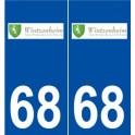 68 Wintzenheim logo sticker plate stickers city