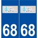 68 Wittelsheim logo autocollant plaque stickers ville