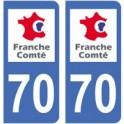 70, Haute-Saône aufkleber platte