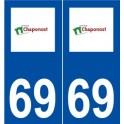 69 Chaponost logo sticker plate stickers city