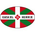 Sticker Flag of the Basque Euskal Herria sticker oval