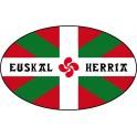 Autocollant Drapeau Basque Euskal Herria sticker ovale