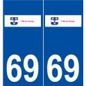69 Jonage logo sticker plate stickers city