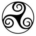 Autocollant triskèle triskell triskel Bretagne Brezih Celte