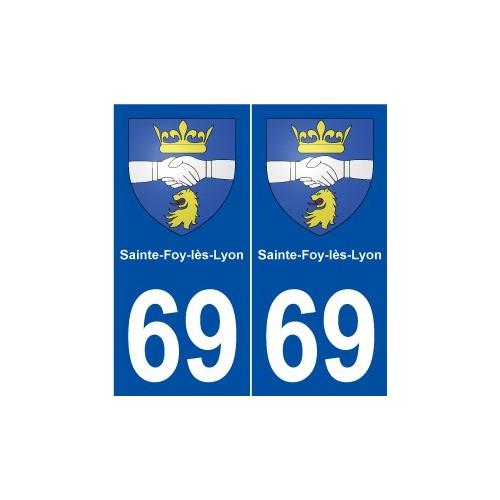 69 Sainte-Foy-lès-Lyon blason autocollant plaque stickers ville