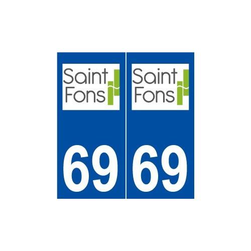 69 Saint-Fons logo autocollant plaque stickers ville