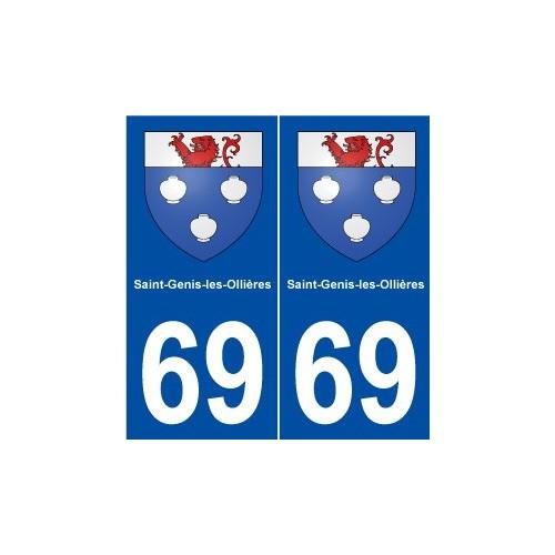 69 Saint-Genis-les-Ollières blason autocollant plaque stickers ville