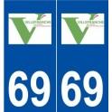 69 Villefranche-sur-Saône logo autocollant plaque stickers ville