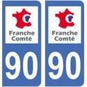 90 Territoire de Belfort autocollant plaque