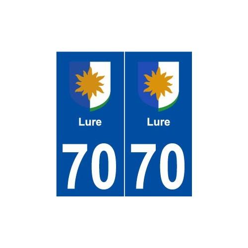 70 Lure logo autocollant plaque stickers ville