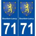 71 Bourbon-Lancy blason autocollant plaque stickers ville