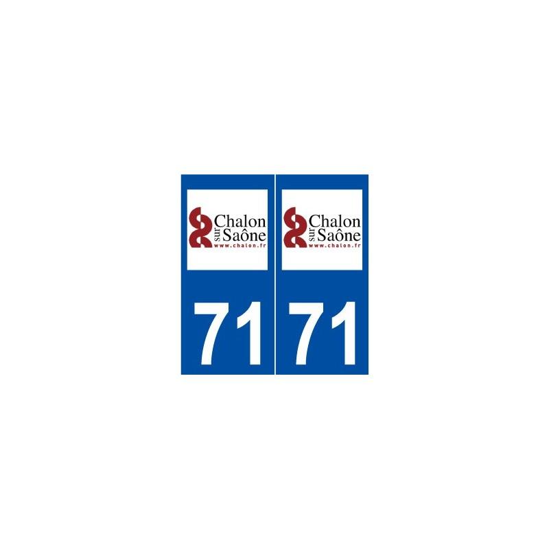 71 chalon sur sa ne logo autocollant plaque immatriculation for Chalon sur saone 71