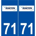 71 Mâcon logo autocollant plaque stickers ville