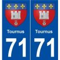 71 Tournus coat of arms sticker plate stickers city
