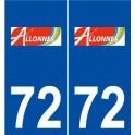 72 Allonnes logo autocollant plaque stickers ville