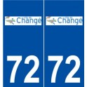 72 Changé logo autocollant plaque stickers ville