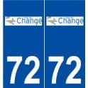 72 Changé logo autocollant plaque stickers ville