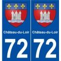 72 Château-du-Loir blason autocollant plaque stickers ville