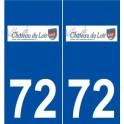 72 Château-du-Loir logo autocollant plaque stickers ville