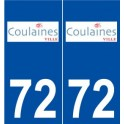 72 Coulaines logo autocollant plaque stickers ville