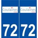 72 Coulaines logo autocollant plaque stickers ville