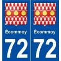 72 Écommoy blason autocollant plaque stickers ville