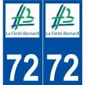 72 La Ferté-Bernard logo autocollant plaque stickers ville
