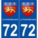 72 La Ferté-Bernard blason autocollant plaque stickers ville