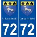 72 La Suze-sur-Sarthe blason autocollant plaque stickers ville