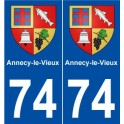 74 Annecy-le-Vieux blason autocollant plaque stickers ville
