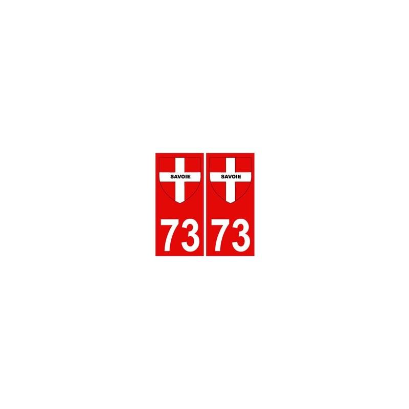 73 savoie autocollant plaque immatriculation d partement fond rouge blason croix savoie. Black Bedroom Furniture Sets. Home Design Ideas