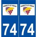 74 Annecy-le-Vieux logo autocollant plaque stickers ville