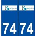 74 Bonneville logo autocollant plaque stickers ville