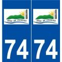 74 Bons-en-Chablais logo autocollant plaque stickers ville