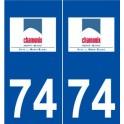 74 Chamonix-Mont-Blanc logo sticker plate stickers city