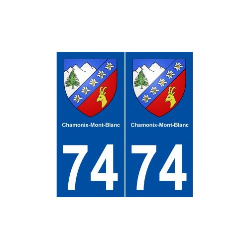 Sticker car motorrad coat of arms city department adhesive chamonix