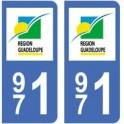 971 Guadeloupe autocollant plaque