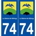 74 La Balme-de-Sillingy coat of arms sticker plate stickers city