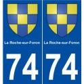 74 La Roche-sur-Foron coat of arms sticker plate stickers city