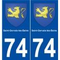 74 Saint-Gervais-les-Bains coat of arms sticker plate stickers city