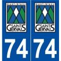 74 Saint-Gervais-les-Bains logo autocollant plaque stickers ville