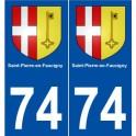 74 Saint-Pierre-en-Faucigny blason autocollant plaque stickers ville