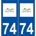 74 Saint-Pierre-en-Faucigny logo autocollant plaque stickers ville