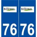 76 Bihorel logo autocollant plaque stickers ville
