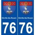 76 Documentation-lès-Rouen coat of arms sticker plate stickers city