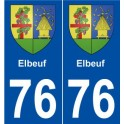 76 Elbeuf coat of arms sticker plate stickers city